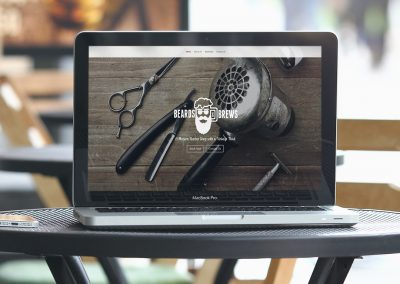 Website Beards & Brew