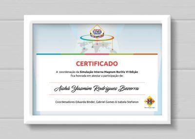 Certificado SIMB Colégio Magnum
